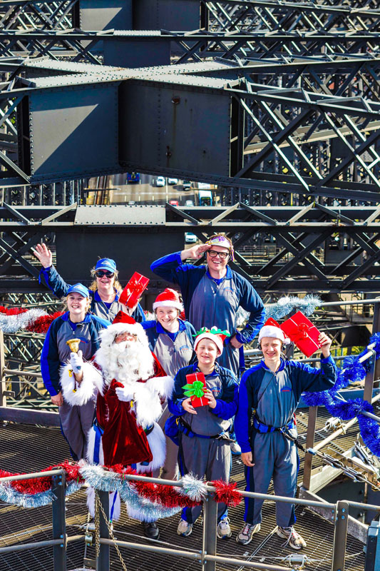 Charity Group Sydney Harbour Bridge The Real Santa