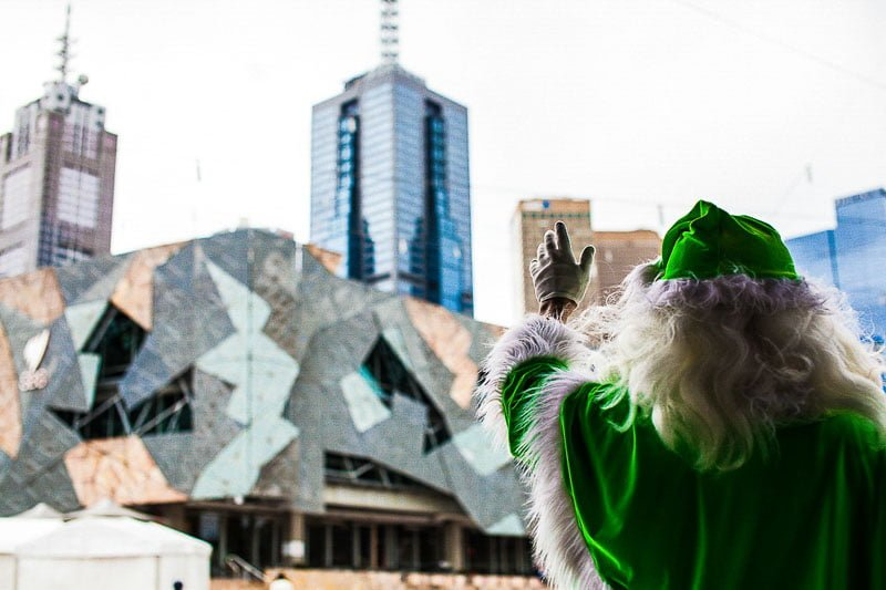 Fed Square Groups The Real Santa