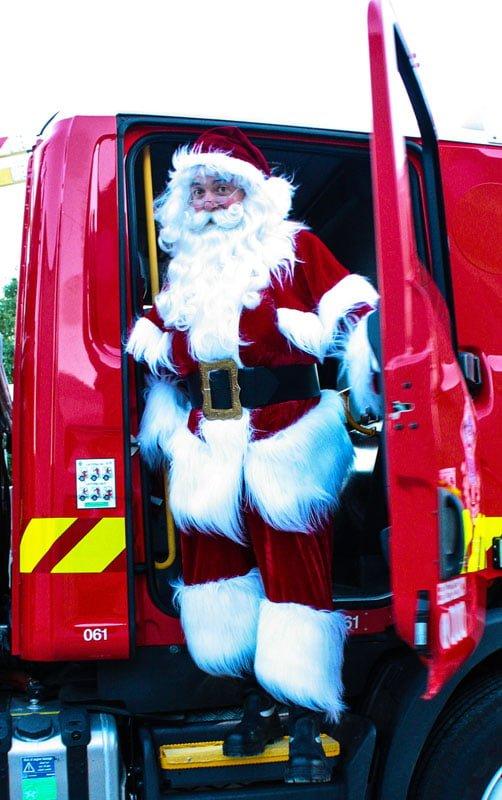 The Real Santa Firetruck