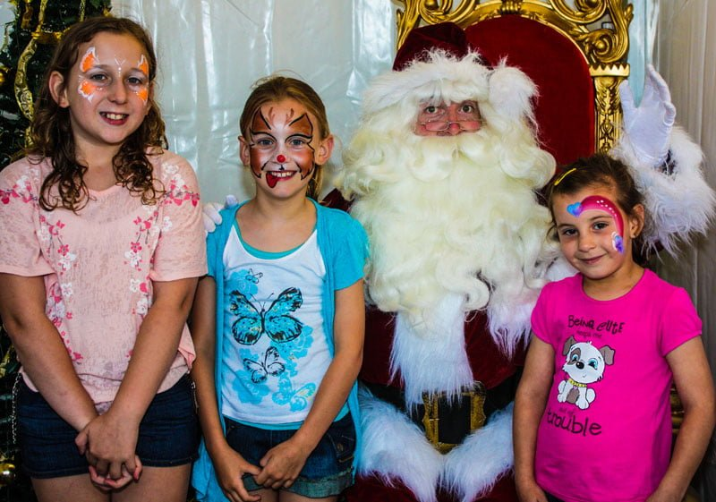 Facepainting Butterfly Rainbow The Real Santa