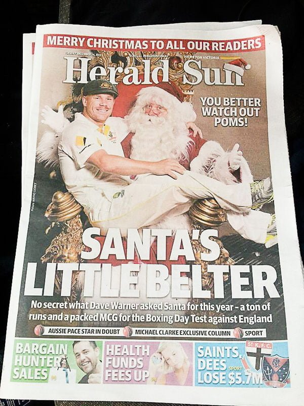 Dave Warner Herald Sun The Real Santa