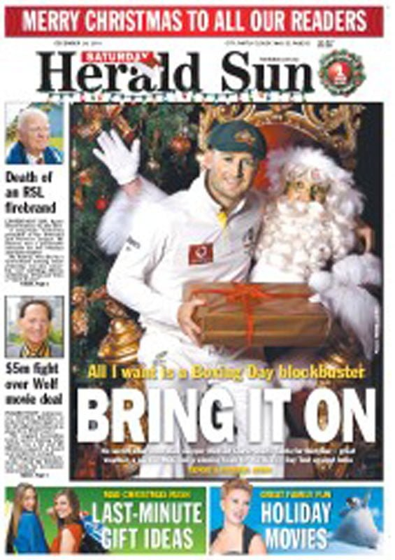 Michael Clarke Herald Sun The Real Santa