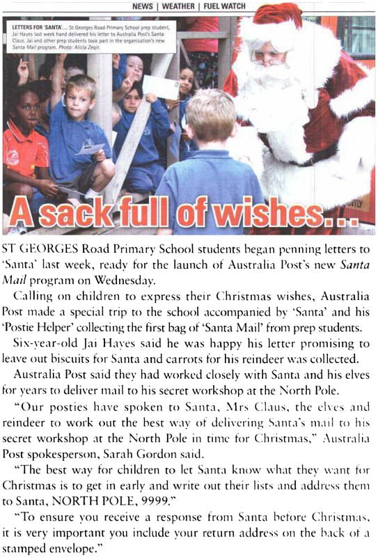 Shepparton Adviser The Real Santa