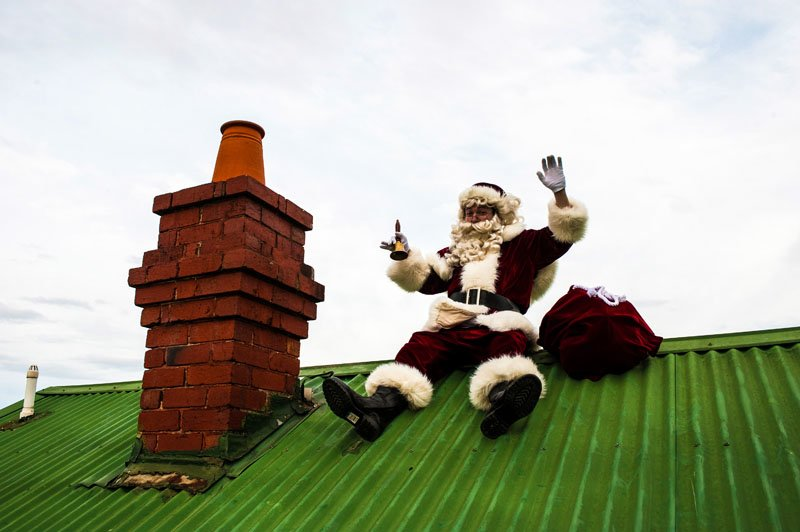 Roof and chimney The Real Santa