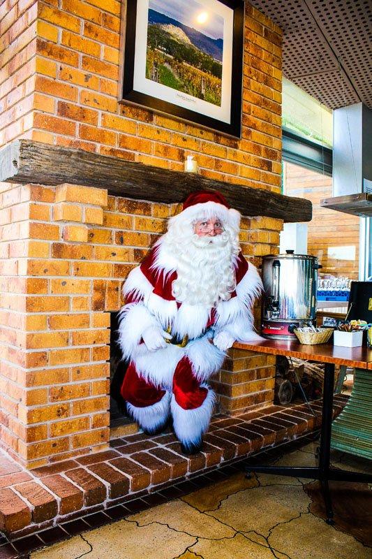 The Real Santa through a chimney
