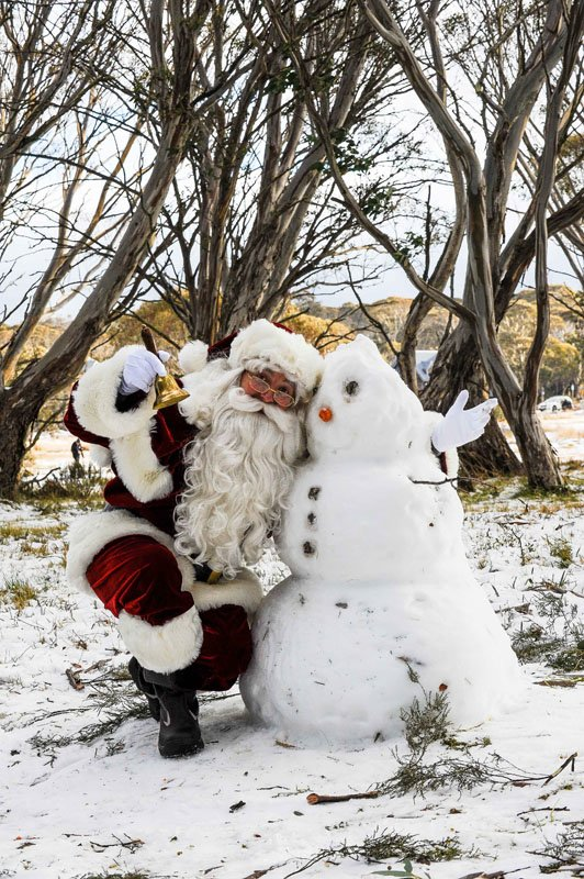 Snowman and The Real Santa