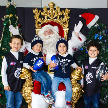 The Real Santa Events Carlton AFL Members