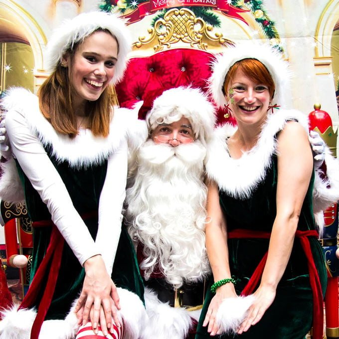 Cute Elves with Santa