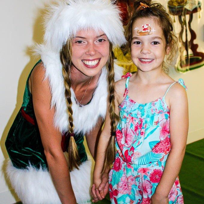 Facepainting Elf and girl