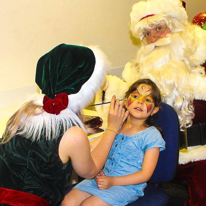 Facepainting Elf painting girl