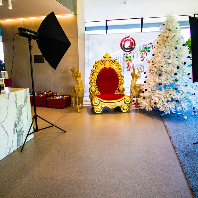 Santa Photography setup