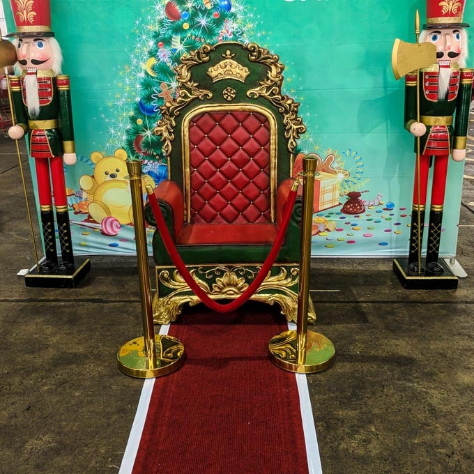 Red Carpet Christmas scene