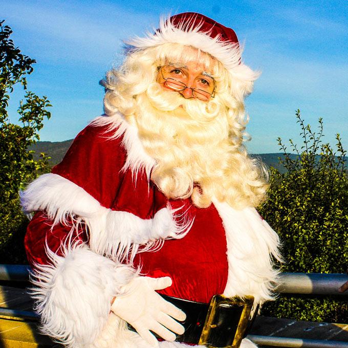 Santa Claus smiling
