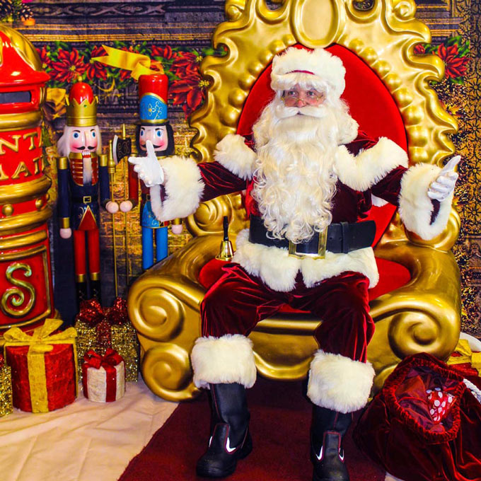 Santa on throne