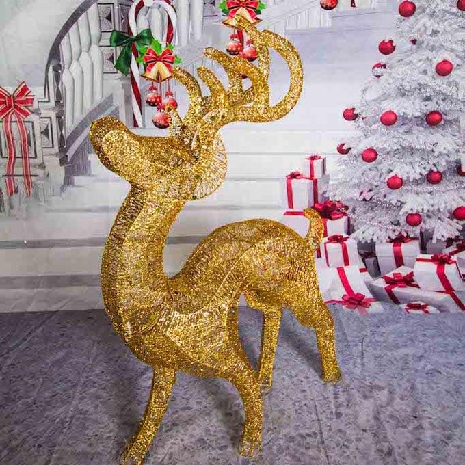 Gold Reindeer Props