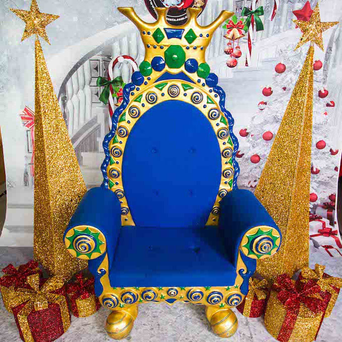 Props with Blue Throne