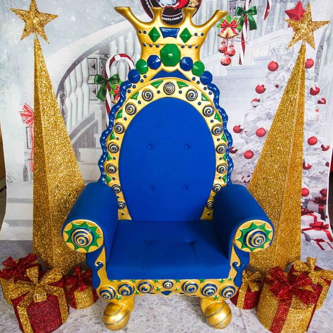 Imperial Blue Gold Spires - The Real Santa