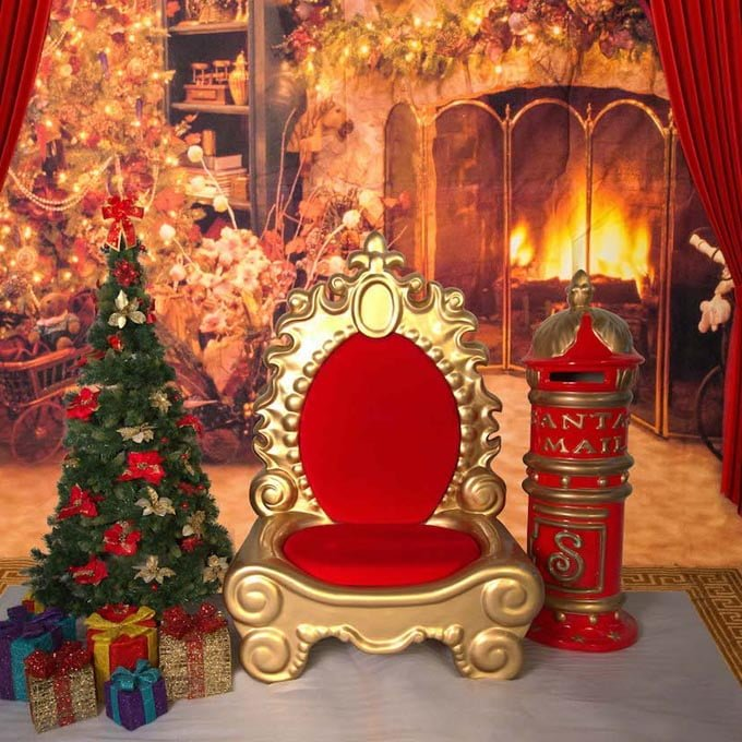 Majestic Red Gold Throne - The Real Santa