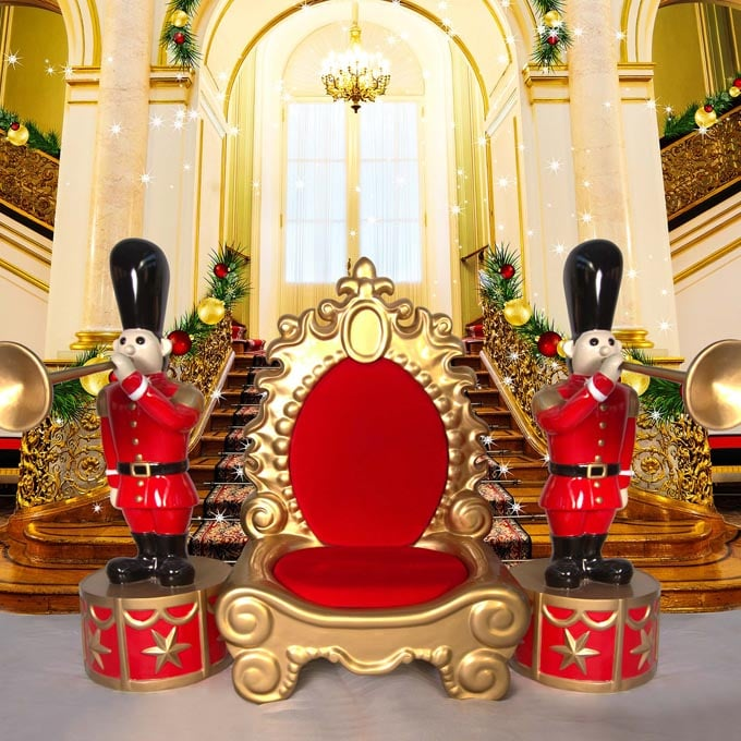 Majestic Red Gold Throne with props