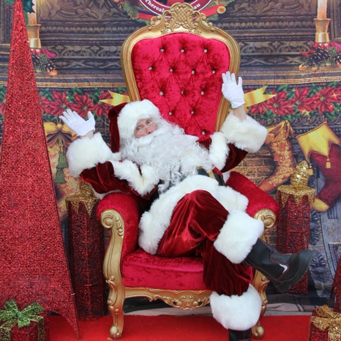 Santa on Regal Throne
