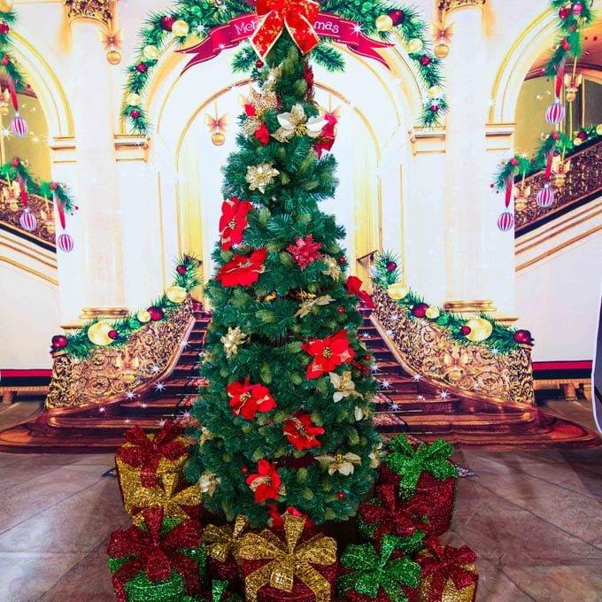 Christmas Tree Backdrop