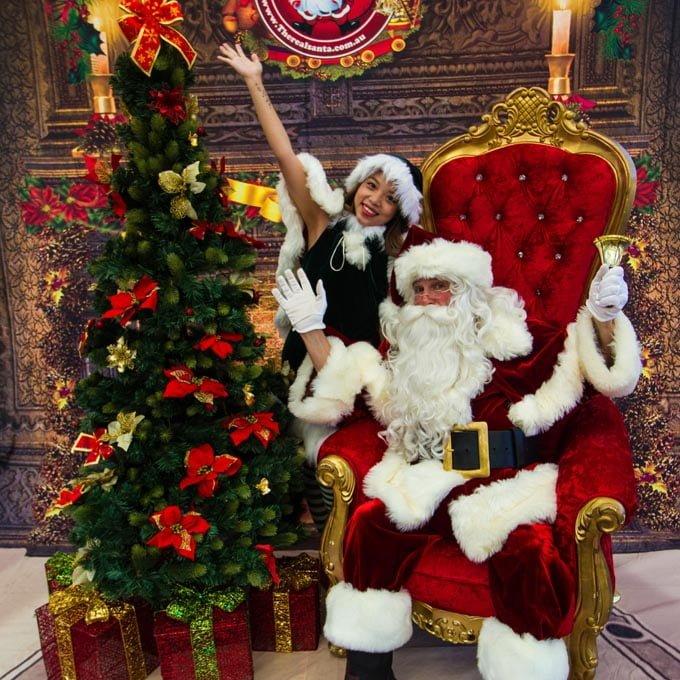 Christmas Tree Santa and Elf