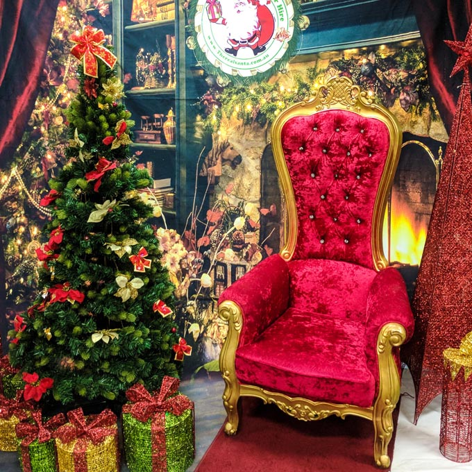 Christmas Tree and Throne