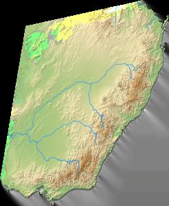 Santa Australia map